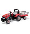 MAXI DIESEL TRACTOR wielki traktor na pedały z przyczepą - długość zestawu 172 cm