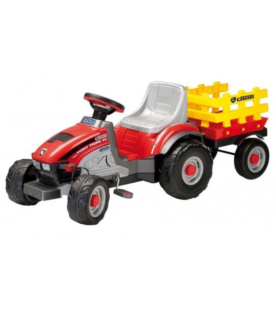 PEG PEREGO MINI TONY TIGRE traktor na pedały z przyczepą